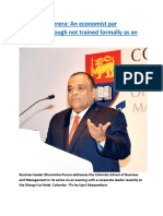Dhammika Perera  An economist par excellence though not trained formally as an economist.docx