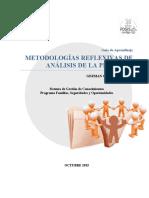 Metodologías Reflexivas de Análisis de la Práctica