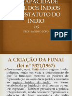 A Capacidade Civil Dos Índios No Estatuto Do Índio