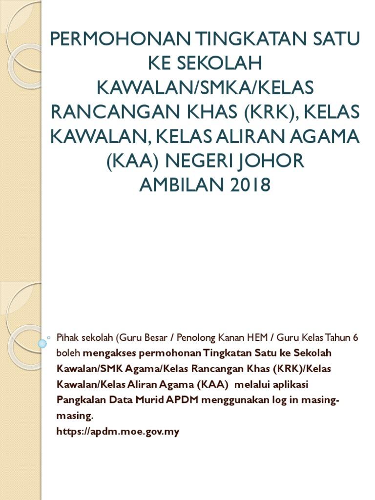 Taklimat Sekolah Kawalan 2018