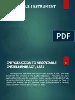 Negotiable Instruments Ac