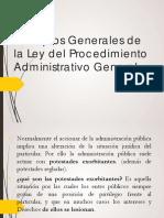 Principios Generales de La Ley Del Procedimiento Administrativo General