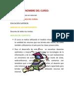 Trabajo Del Docente en Internet (Lourdes)