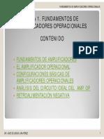 CONFIGURACIONES BASICAS AMPLIFICADOR OPERACIONAL