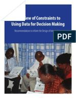 Review of Constraints to Data Use