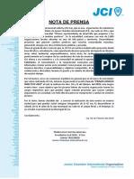 Nota de Prensa jci ica
