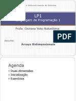 Estrutura Programa 7- Arrays Bi Dimension a Is