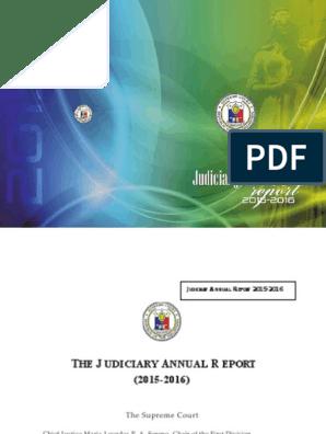 SC Annual 2015-2016 Narrative Report | Judiciaries