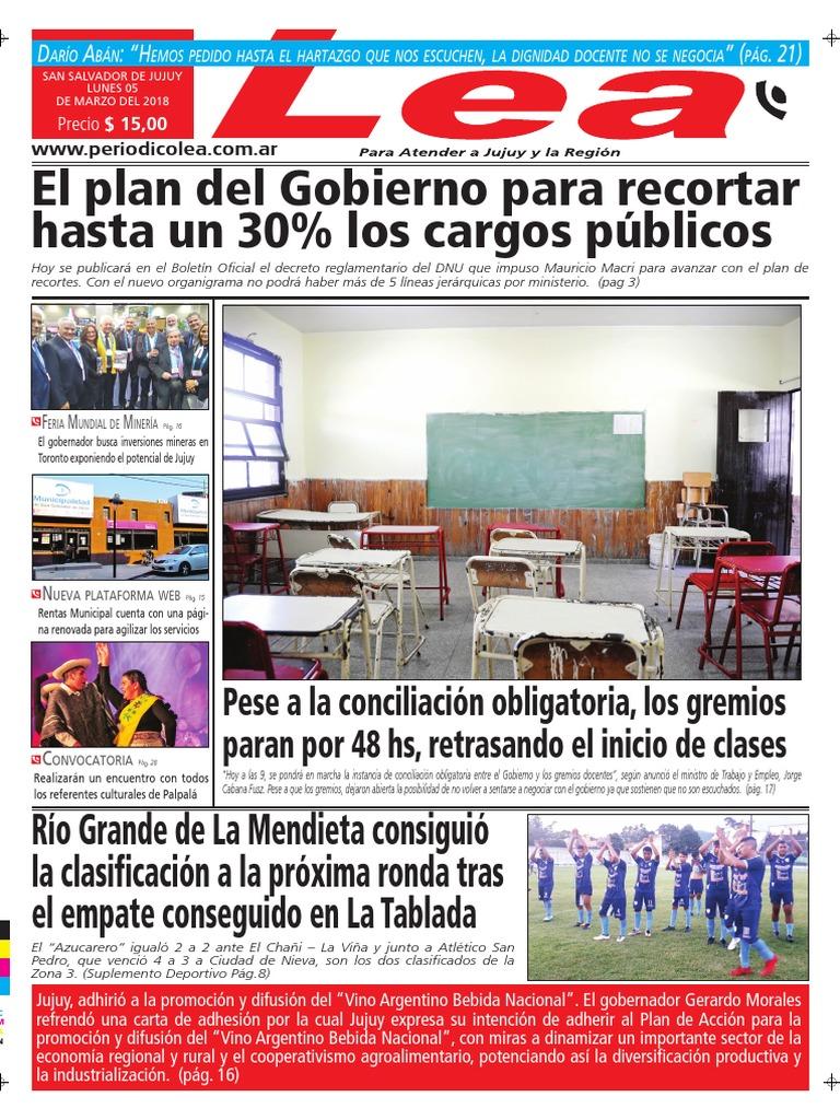 67d4358094ab8 Periódico Lea Lunes 05 de Marzo Del 2018