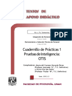 Cuadernillo de Practicas 1. Pruebas de Inteligencia OTIS Gerardo Perez Vite San Pedro TAD 6 y 7 Sem