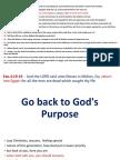 Go Back to God's Purpose
