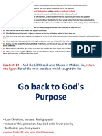 Go Back to God's Purpose