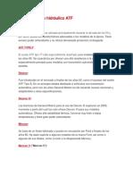 Tipos de aceite hidráulico ATF