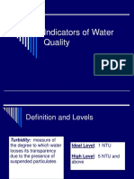 Indicators of Water Quality