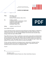 Notice of Mistake - General