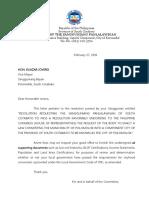 Letter to Polomolok