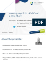 Moving Payroll Hcm Cloud Case Study