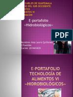 E-portafolio, Hidrobiologicos, Ana Laura Quiñonez 201441439