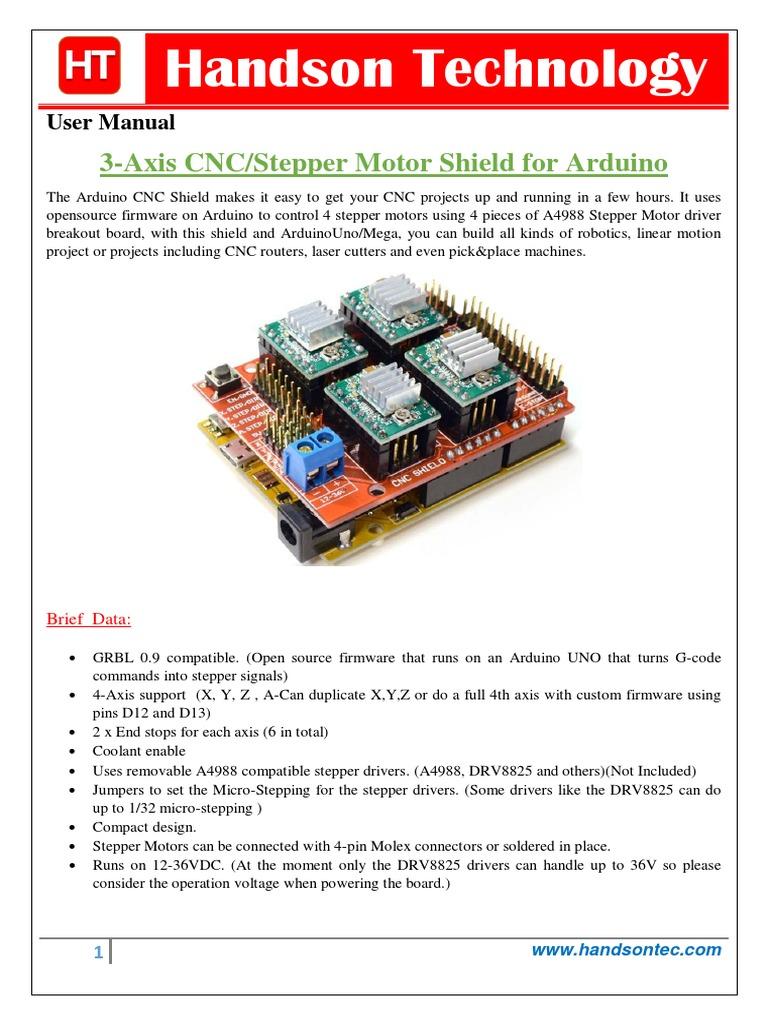 Cnc 3axis Shield | Numerical Control | Arduino