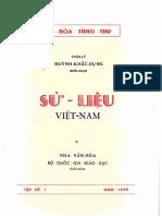 (1959) Sử Liệu Việt Nam - Huỳnh Khắc Dung