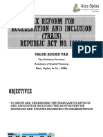 TRAIN Part 2 - Value-Added Tax