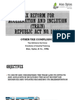 TRAIN Part 6 - Other Tax Compliance