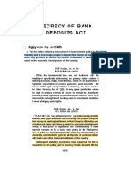 Secrecy of Bank Deposits