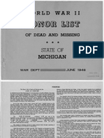WWII Army Honor List - Michigan