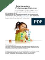 Pencernaan Sehat Yang Akan Mendukung Perkembangan Otak Anak