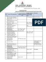 APSC Exam Calendar