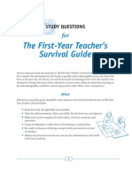 First Year Teacher's Survival Guide (I)
