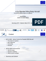 Active Control for Blended Wing Body Aircraft - 2011