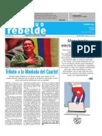 EDICION IMPRESA COMPLETA Diario Juventud Rebelde DOMINICAL. 4 de marzo de 2018.