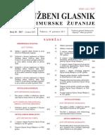 Službeni glasnik Međimurske županije broj 18. iz 2017. godine