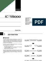 Icom IC-V8000 Optional Instruction Manual