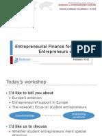 Entrepreneurial Finance for Student Entrepreneurs in Europe_HKIST_REE090910