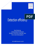 NaI Detection Efficiency