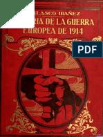 Vicente Blasco Ibáñez - HISTORIA DE LA GUERRA EUROPEA DE 1914  (TOMO 5)