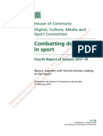 REPORT - Combatting Doping in Sport