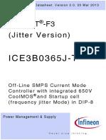 Infineon ICE3B0365J T DS v02 00 En