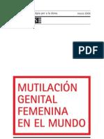 Mutilación genital femenina en el mundo