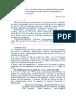 A Contagem Do Prazo Inicial No Processo Administrativo Federal Em Dia Não Útil Ou Em Véspera de Dia Não Útil