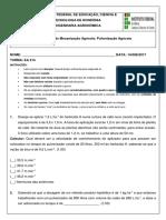 3ª Avaliação de Mecanização Agrícola - Pulverização Agrícola