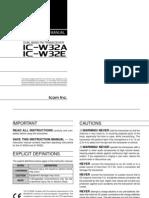 Icom IC-W32A-E Instruction Manual