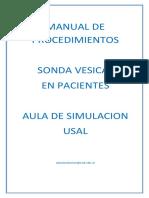 Manual de Procedimientos Sonda Vesical