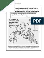 ISFD Nº 56-Cuadernillo de Taller Inicial 2018