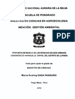 PROPUESTA DE MANEJO DE LOS RESIDUOS SÓLIDOS URBANOS GENERADOS EN NARANJILLO. CAPITAL DEL DISTRITO DE LUYANDO