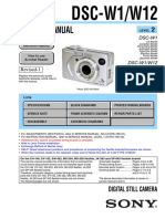 Sony Dsc-w1, w12 Service Manual Level 2 Ver 1.9 2007.11 Rev-1 (9-876-736-3a)