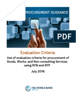Procurement Guidance Evaluation Criteria