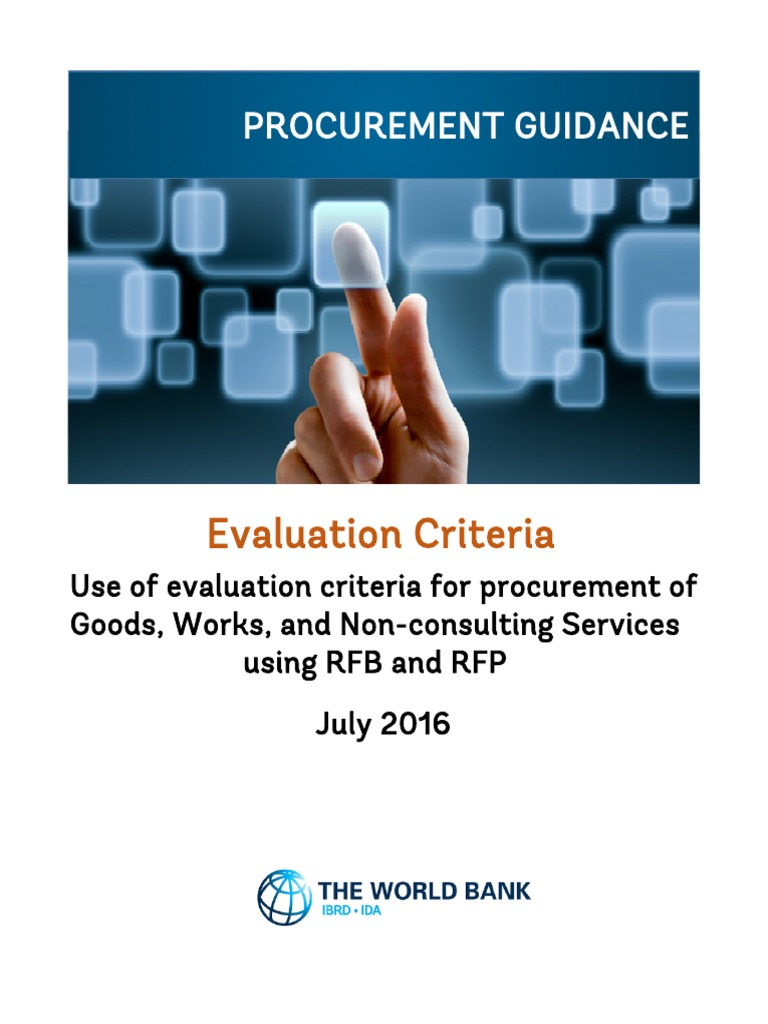 Procurement Guidance Evaluation Criteria   Request For Proposal (16